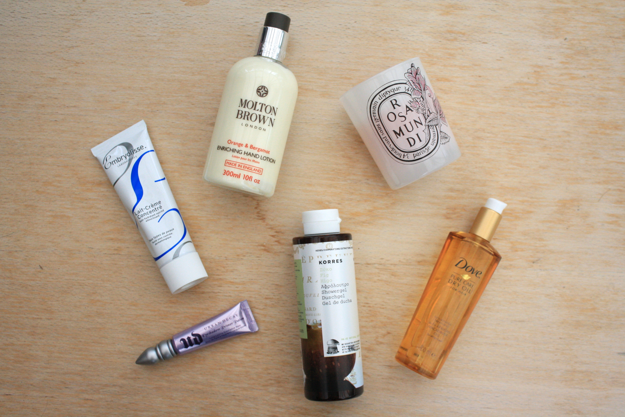 beauty favourites embryolisse molton brown korres
