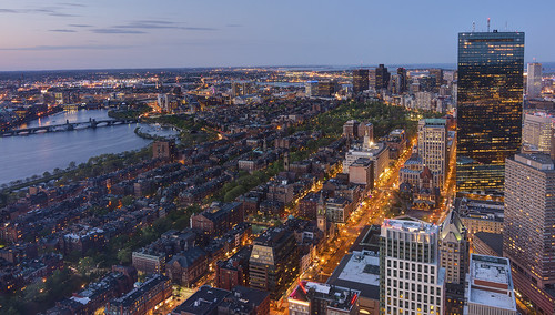Boston skyline from the Prudential Skywalk - [Explored] 2014-05-11