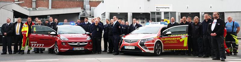 Erprobung alternativer Rettungstechniken auf dem Opel-Werksgelände