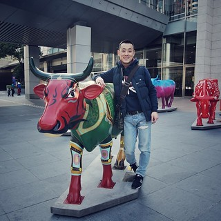 #Ox #colorful #statue #Shanghai #city #outdoors #me #guy #man #haha #Asian #moods #nice #cool #great #fun #wow #tagforlikes #lonely #beautiful #handsome #lol