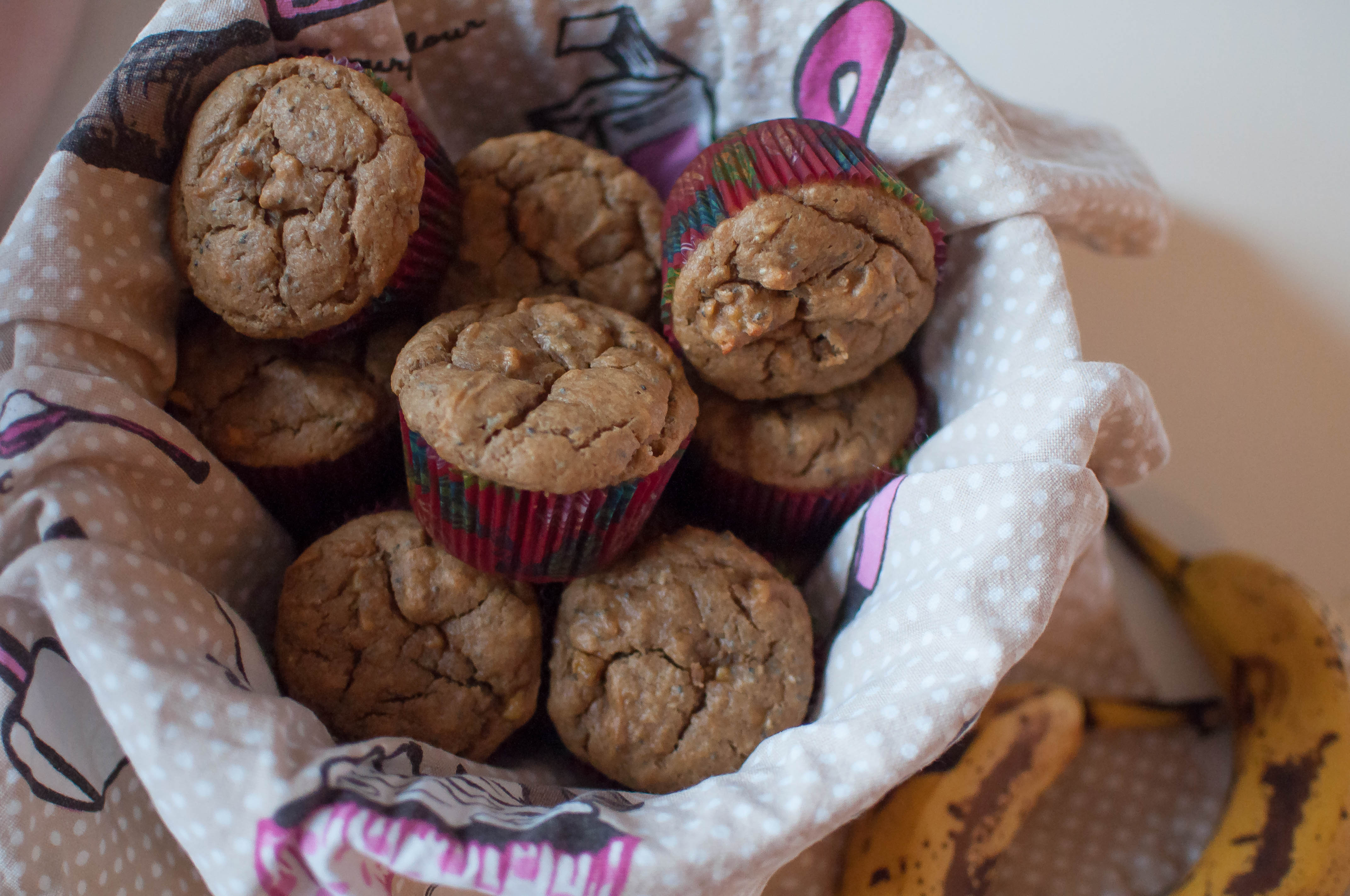 Peanut Butter Banana Muffins {gluten and dairy free) 1