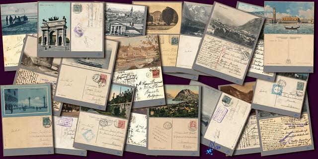 Ensemble de cartes postales r°/v°