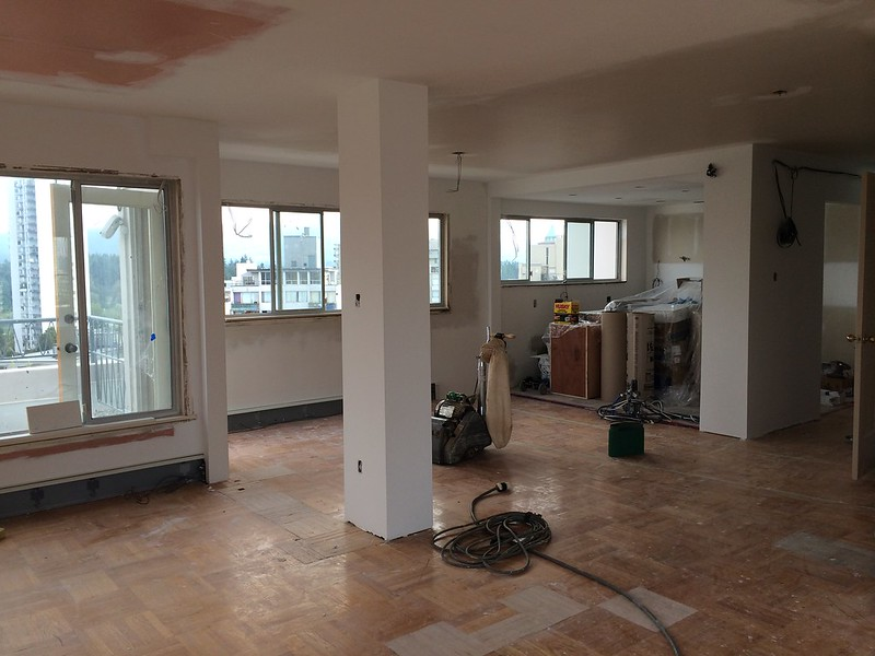 Repaired Hardwood Floor- Vancouver Penthouse