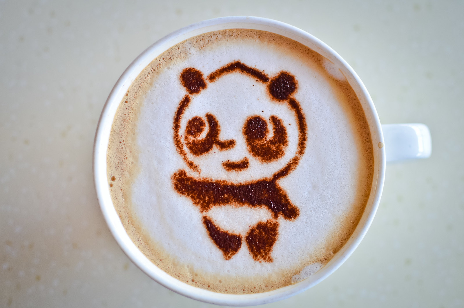 Singapore River Safari Panda Cappuccino