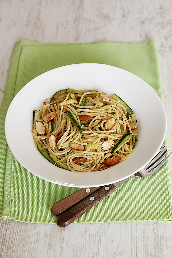 Pasta With Zucchini And Roasted Almonds