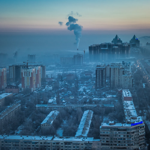 winter sunrise sony january pollution kazakhstan almaty 2015 rx100