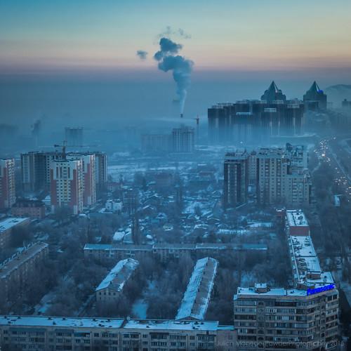 winter sunrise sony january pollution kazakhstan almaty 2015 rx100