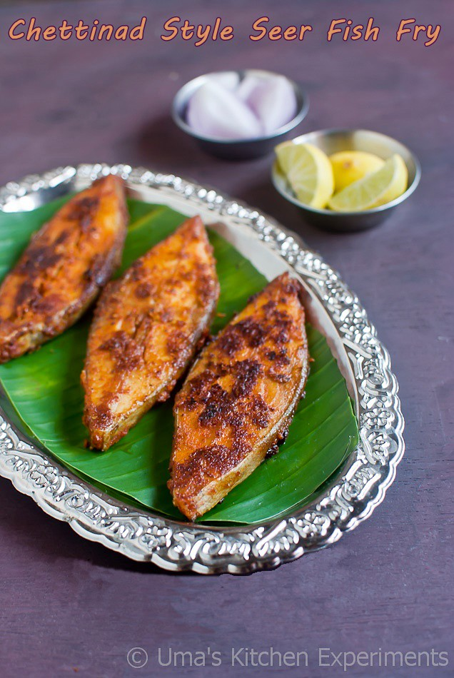 Chettinad Style Seer Fish Fry