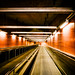 Red escalator by Fredrik Forsberg