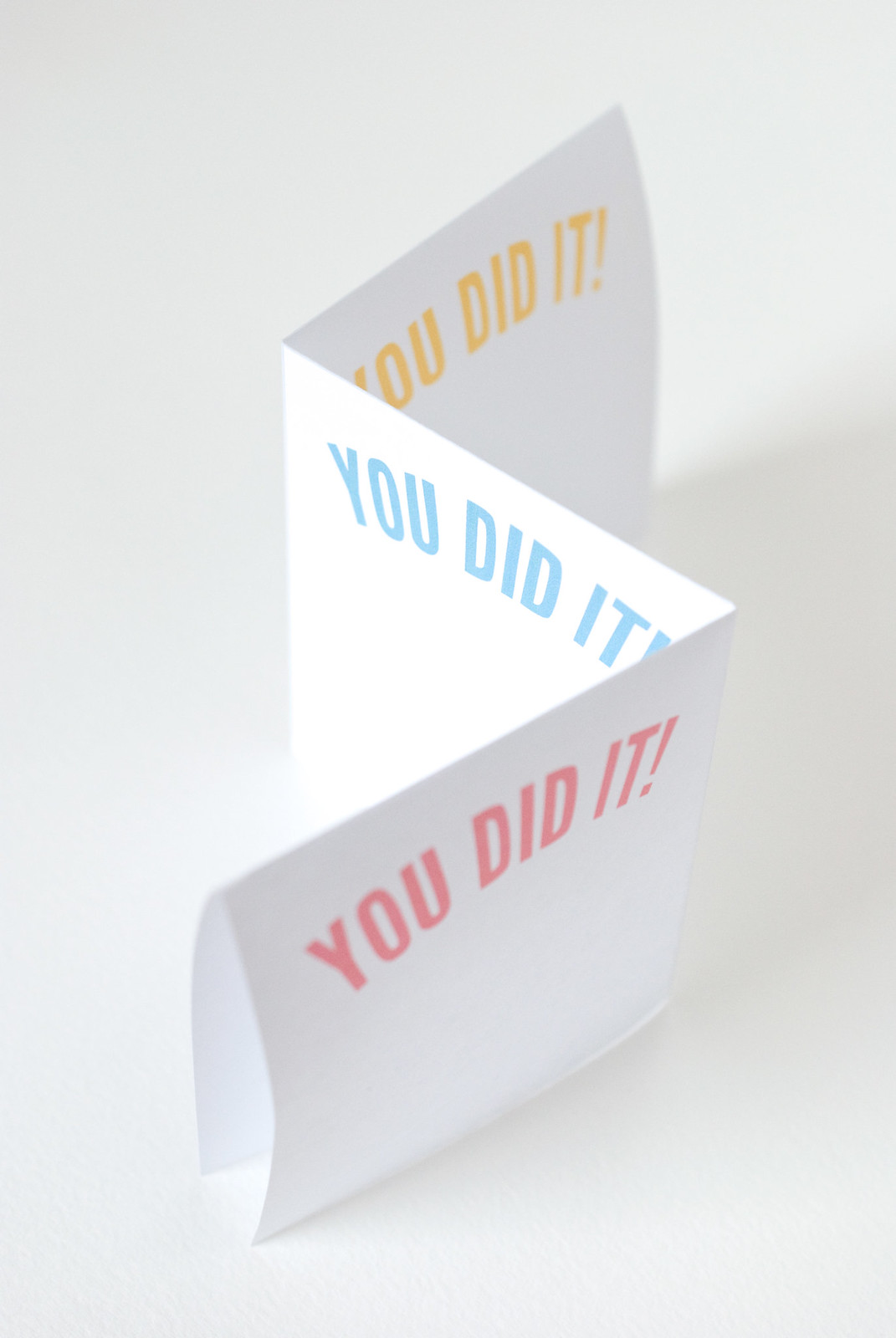 You Did It lists printable