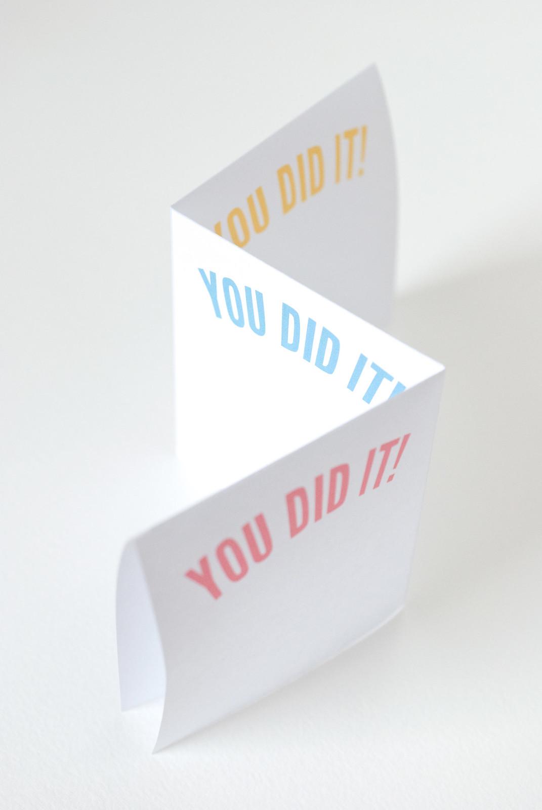 You Did It lists printable