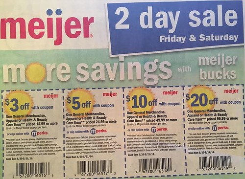 Meijer Two Day Sale May 20, 2016