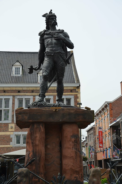 Statue of Ambiorix erected in 1866 in Tongeren, Atuatuca Tungrorum, Tongeren, Belgium