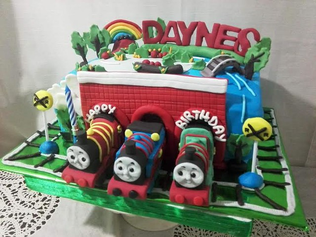 gman.ph719's Thomas Train Inspired Cake