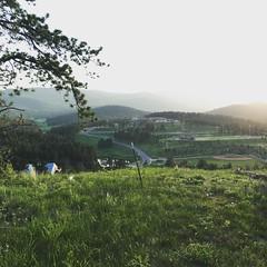 Sun setting in the foothills #conifercolorado #sunset