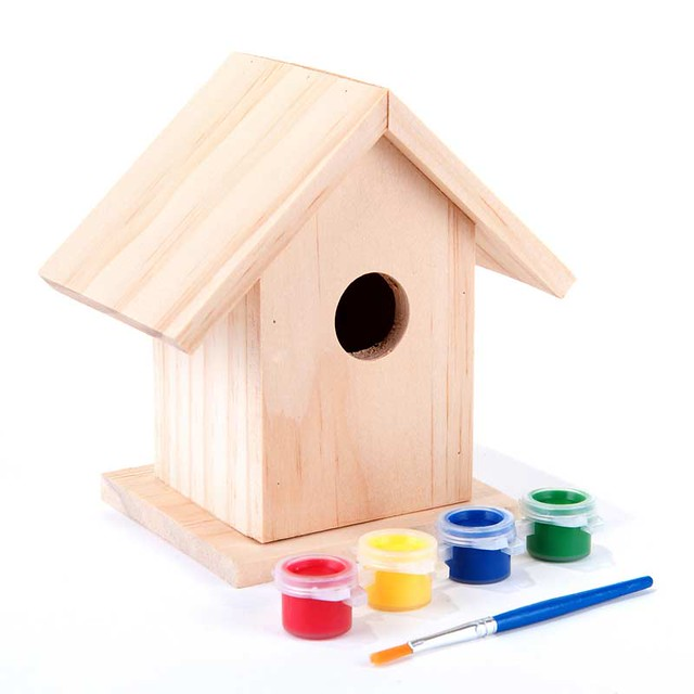 Paint Your Own Wooden Bird House Kit