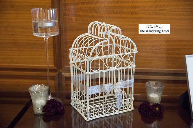 Bird cage as part of decor for a wedding