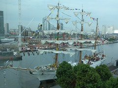Tall Ship Arrives in West India Dock
