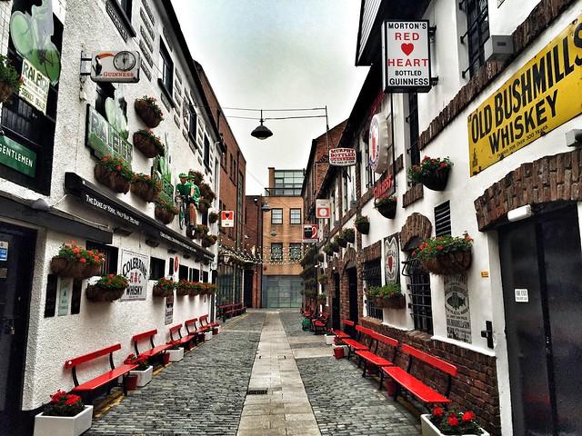 Zona de pubs en Belfast (Irlanda del Norte)