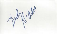 Autographed 3x5 Card - Bob McAdoo