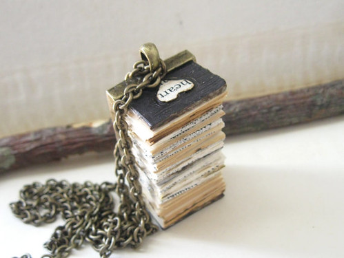 book-pendant-necklace