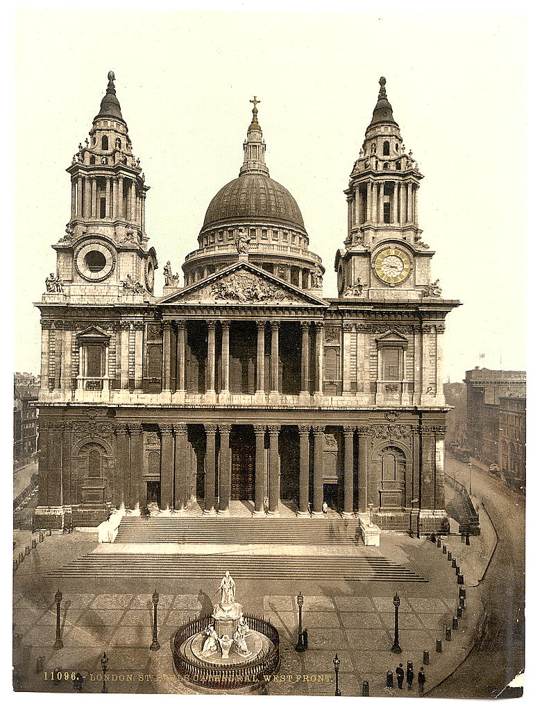 [St. Paul's Cathedral, West Front, London, England] (LOC)