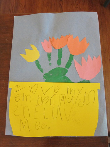 """I love my mom because she loves me"" from Finn"