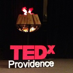 Represented nicely at #TEDxPVD. Come hear #WaterFire creator @barnabyevans this afternoon!