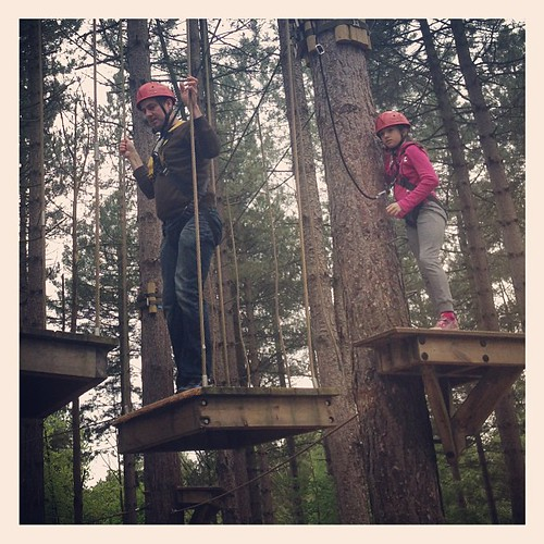 Aerial adventure adrenalin high! #cpfamilybreaks