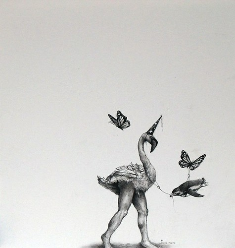 Adonna Khare, Flamingo with Legs, 2013
