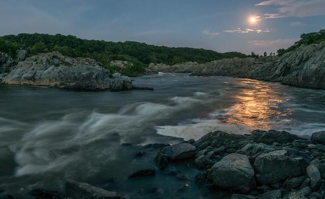 Potomac River Moonrise