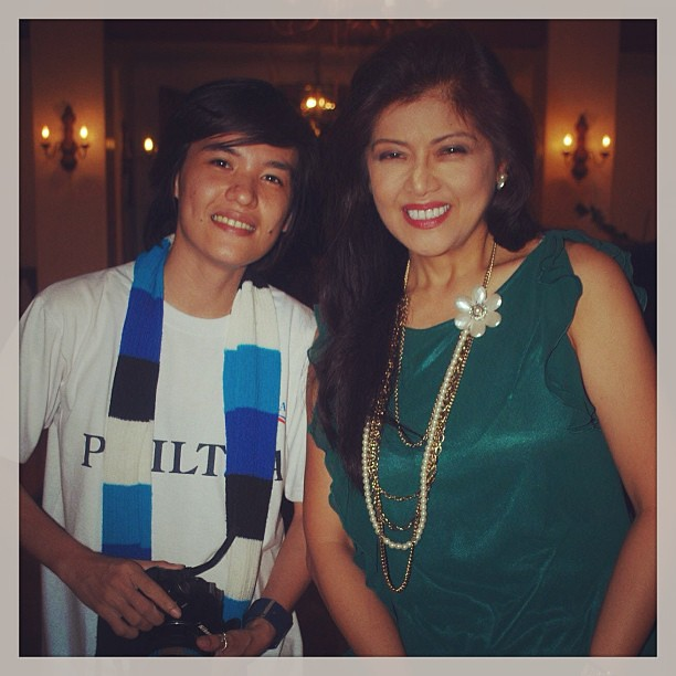 Me with Ms. Aimee Marcos during my tour in MALACANANG ...