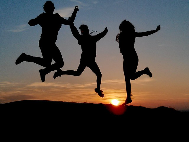 Jumping for joy from Flickr via Wylio