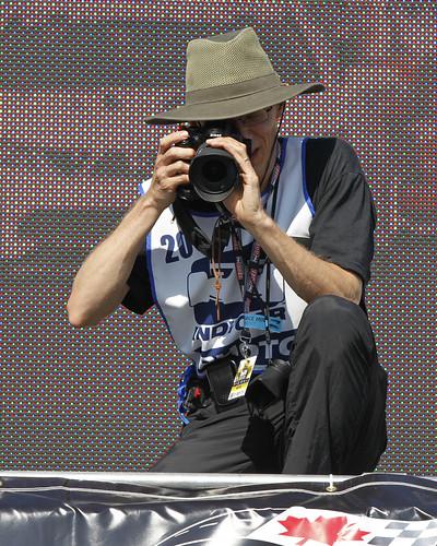 Richard Wintle shooting the Honda Indy Toronto