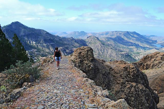 Ascending from San Bartolome de Tirajana, Gran Canaria