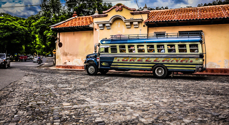 Chicken Bus Antigua Guatemala