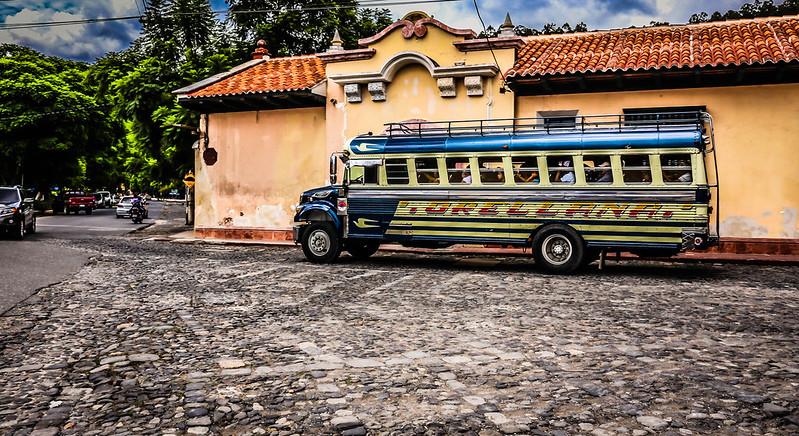 Chicken Bus Antigua Guatemala