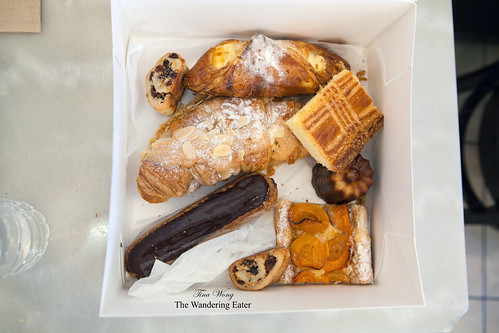 Our box of pastries to go