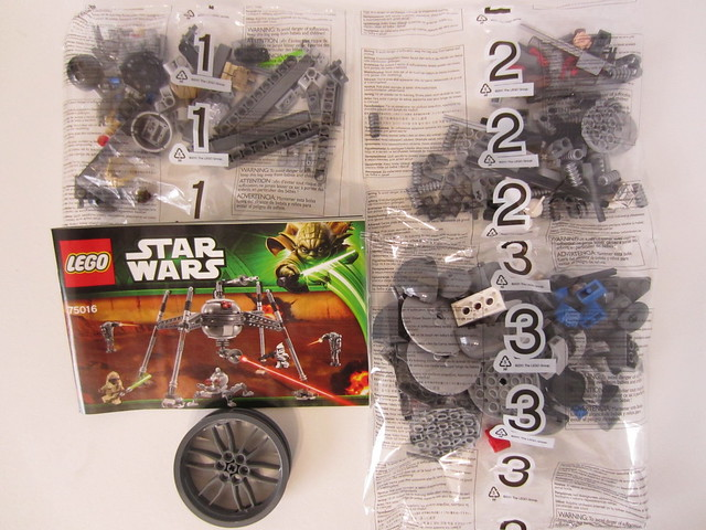 lego dwarf spider droid instructions