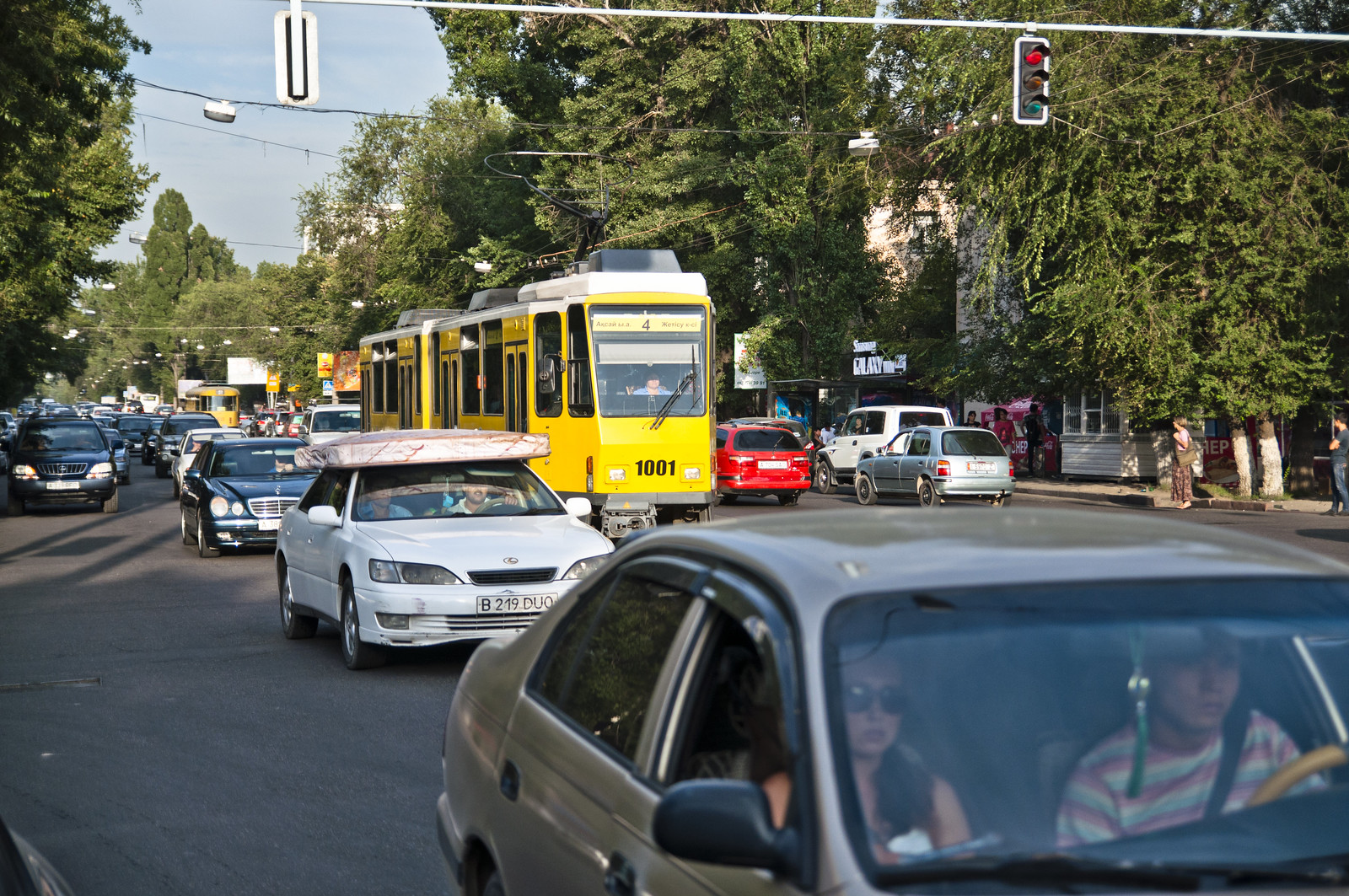 Old Berlin Trams in Almaty