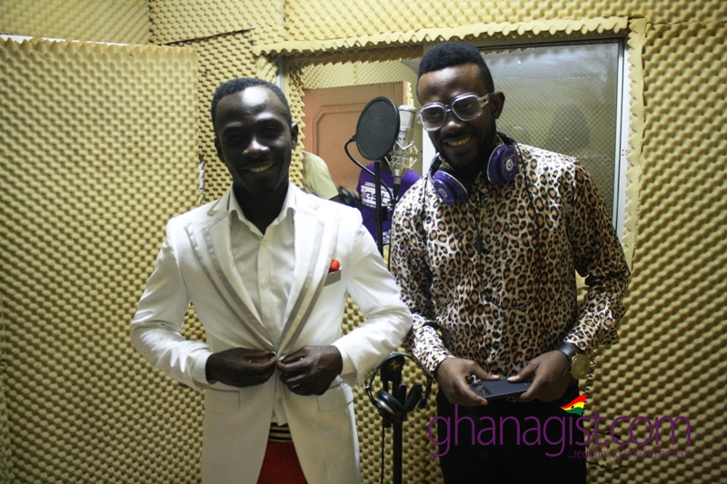 Okyeame Kwame and J Martins in studio