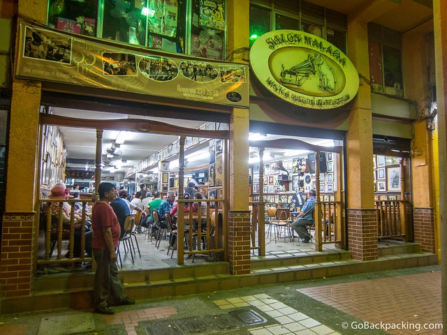 Salon Malaga in Centro is the oldest tango bar in Medellin