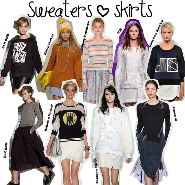 Sweaters+skirts