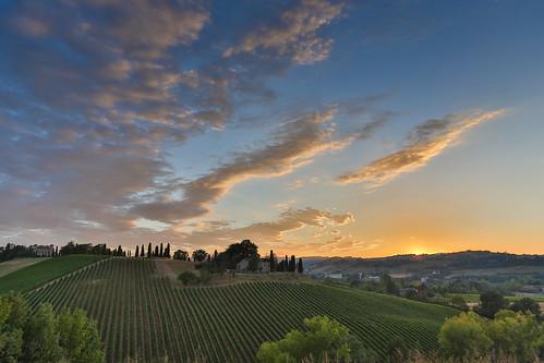 """Sunset,tramonto a Broletto al castello """"Il piu' bello"""""""
