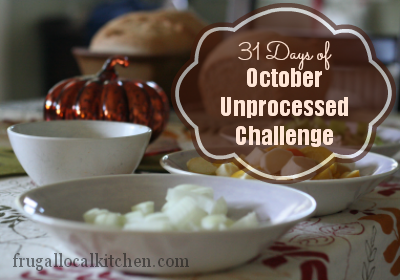 31 Days of October Unprocessed Challenge