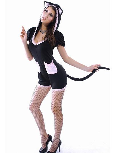 Karomuster elastischem Satin sexy school costume | Sexy