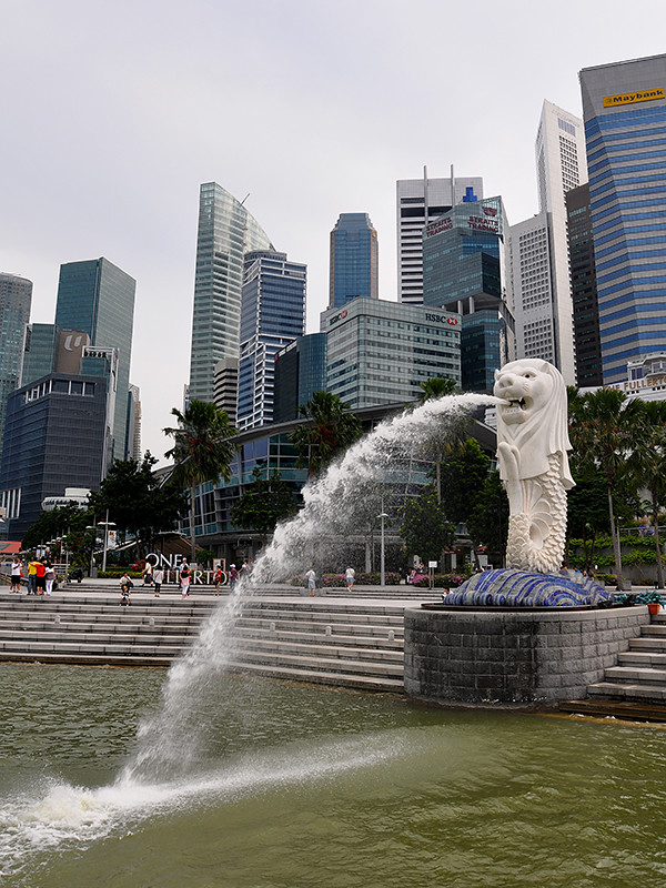 Singapore - Merlion Skyline