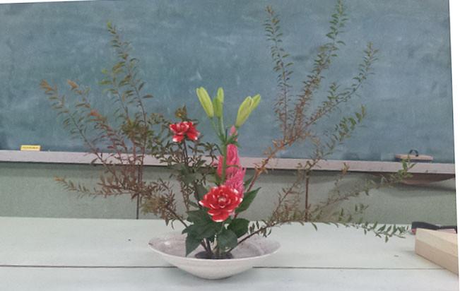 【盛花】ユリ、.ユキヤナギ、ダリア【2013_10_19】
