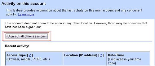 how to find gmail account location