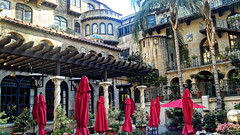 A courtyard at the Mission Hotel.